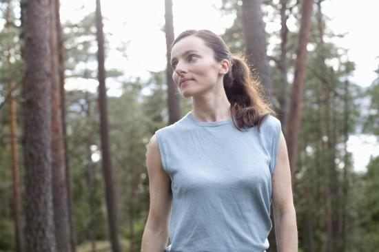 Maja S.K. Ratkje, fotografert hjemme på Svartskog. Foto: Ellen Lande Gossner